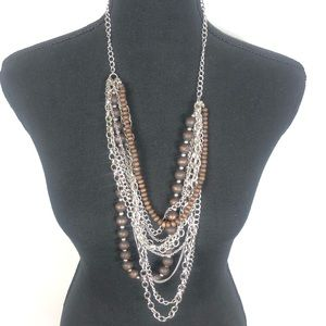 Chunky layered necklace